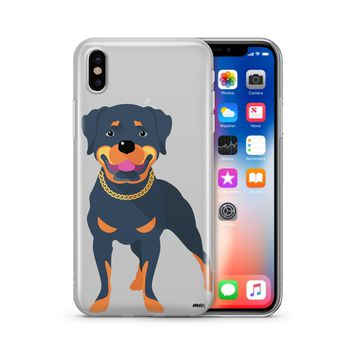 Rottweiler - Clear TPU Case Cover