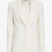 Elizabeth and James Jolie Stretch Blazer: Ivory at INTERMIX | Shop Now | Shop IntermixOnline.com