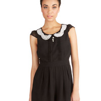 ModCloth Film Noir Long Short Sleeves Romance Columnist Romper