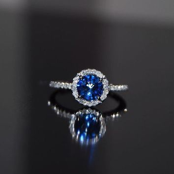 Cornflower blue sapphire diamond ring2nd payment by EidelPrecious