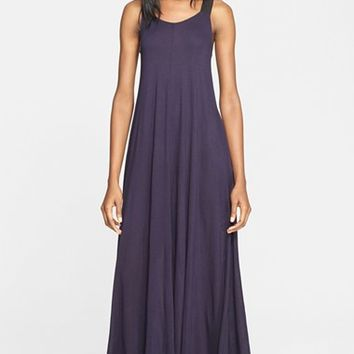 Women's Enza Costa Wide Grosgrain Strap Jersey Maxi Dress