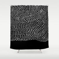 Ink Brush #2 Shower Curtain by Salted Seven