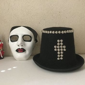 Mask,Day of The Dead,Halloween,Tophat,Dia De Los Muertos,Costume Hat,Costume Mask,Weird Mask,Unisex Mask,Weird  Eerie
