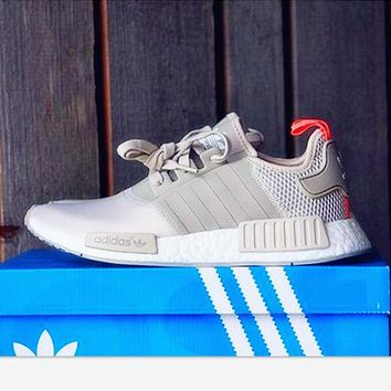 One-nice™ Adidas NMD Women Fashion Trending Running Sports Shoes Beige