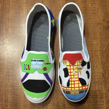 Toy Story Hand Painted Canvas Shoes (Generic Brand or Authentic Vans)