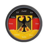 German Flag Wall Clock on CafePress.com