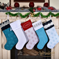 Create your own design Christmas Stocking Fireplace decoration Personalized Family X-mas Unique gift Heirloom Christmas Home decoration