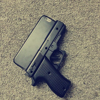 Exclusive cool 3D Gun shape Case Cover for iPhone 5 / 5S / 6