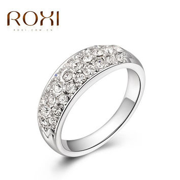ROXI Fashion Imitation Diamond Rings CZ Engagement Ring Crown Girl Love Stone Wedding Rings Bijoux Women Bagues Costume Jewelry