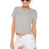 Dakota Crop Top - Grey