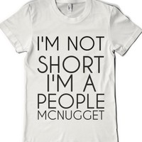 White T-Shirt | Funny Short Joke Shirts