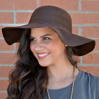 City Lights Floppy Hat - Brown