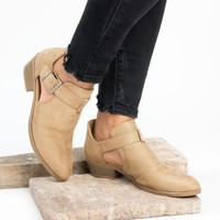 Side Cut Out Ankle Booties