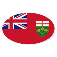 Canada Ontario* Flag Euro-style Oval adds international pizzaz to your car. #canada,#ontario.