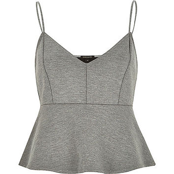 River Island Womens Grey jersey short cami top