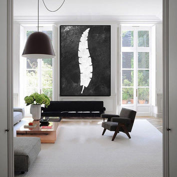 Extra large abstract painting, black white wall art, large painting, original paining, Abstract acrylic painting on canvas, handmade