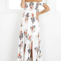 Daytime Dancer maxi dress in cream floral Produced By SHOWPO