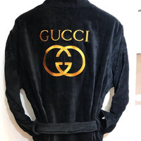 GUCCI Embroidery Logo Bathrobe