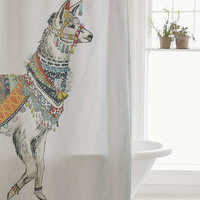 Illustrative Llama Shower Curtain - Urban Outfitters
