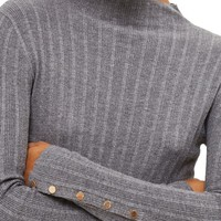 Topshop Snap Sleeve Ribbed Sweater | Nordstrom