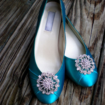 Green Wedding Shoes  -- Wedding shoes -- Low heel