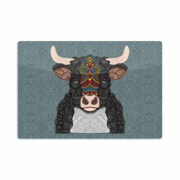 "Art Love Passion ""Steve The Bull"" Gray Brown Aluminum Artistic Magnet"