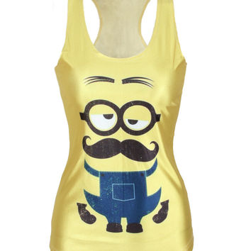 Bralette Stylish Hot Beach Summer Sexy Comfortable Casual Minions Print Women's Fashion Vest [6049035777]