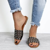 Heart Skips Studded Sandals