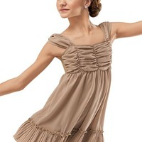 Pleated Ruffle Georgette Dress -Weissman Costumes