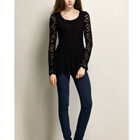 Long Sleeve Lace T-shirt