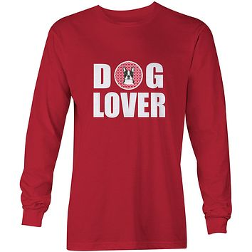 Boston Terrier Dog Lover Long Sleeve Red Unisex Tshirt Adult Extra Large BB5273-LS-RED-XL