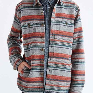 life/after/denim Serape Button-Down Shirt Jacket- Grey