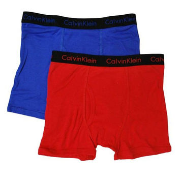 Calvin Klein Boys Cotton 2PK Boxer Briefs