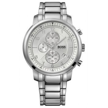 Hugo Boss 1512642 Men's Silver Dial Chronograph Steel Bracelet Quartz Watch