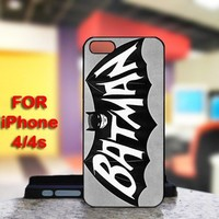 Batman For IPhone 4 or 4S Black Case Cover