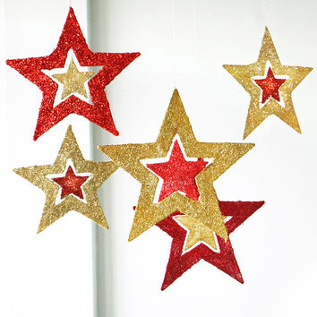 Christmas Ornaments Shiny Star Pentagram Xmas Tree Ceiling Wall Hanging Decoration Home Decor [9431839876]