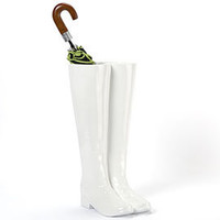Boot Umbrella Stand - White | Z Gallerie