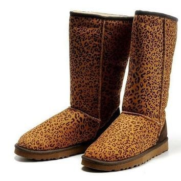 UGG Women Fashion Wool Snow Leopard print