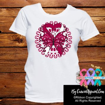 Head Neck Cancer Stunning Butterfly Shirts