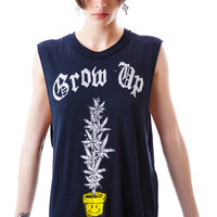 UNIF Grow Up Sleeveless Tee Faded Black