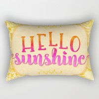 Hello Sunshine Rectangular Pillow by Noonday Design | Society6