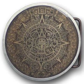 Sports Jewelry & AccessoriesSports Accessories - Aztec CalendarSports Jewelry & AccessoriesSports Accessories - Brown Enameled Belt Buckle