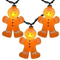 Gingerbread Men Set of 10 String Lights