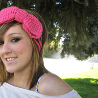 Pink Three Strand Bow Headband