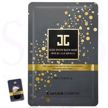 JAYJUN Gold Snow Black Mask ( 1+1=mask+serum )  *exp.date 12/18