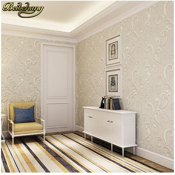 beibehang papel de parede 3D Non-woven european glossy stylish damask wallpaper for living room luxury wall paper for bedroom
