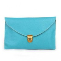 Keral Women's Envelope Clutch Handbag Blue