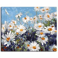 "DIY Paint by Numbers Canvas Painting Set - ""Field of Daisies"""