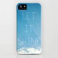 Let It Shine iPhone Case by Galaxy Eyes | Society6
