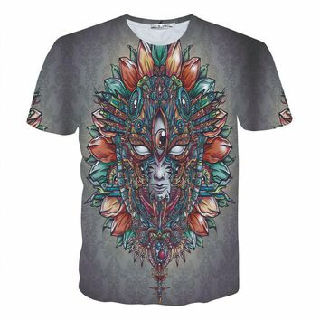 Fashion Clothing Tops Tees Pullover Psychedelic T-Shirt 3d t shirt Women Men Casual tshirt Summer Style Crewneck Tee Size S- 3XL